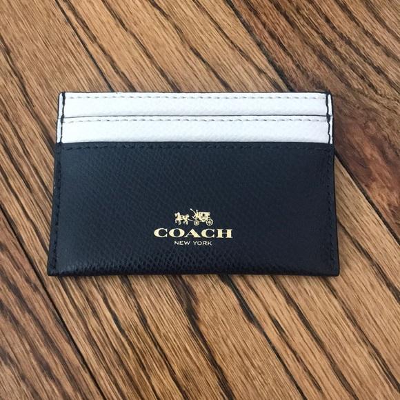 7a80794cff Black and White Coach Card Case
